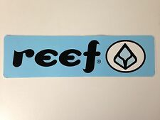 Reef Large Decal Sticker - Approx 2.5 in x 8 in - Blue/Black/White