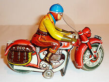 TIPP & CO / TIPPCO ~ U.S. Zone Germany ~ Tin Litho Wind-up 1950s MOTORCYCLE #590