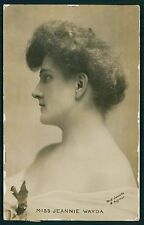 Jeannie Wayda Theater Edwardian Lady 1910s photo postcard
