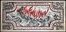 """ITZEHOE 1923 """"Burning Ship in a Storm"""" 5 Million Mark Inflation Notgeld Germany"""