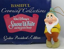 Grolier Bashful President's Edition Ornament Disney Snow White and the 7 Dwarfs