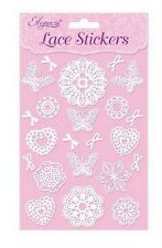 BEAUTIFUL WHITE LACE BUTTERFLIES & FLOWERS EMBELLISHMENTS FOR CARDS AND CRAFTS