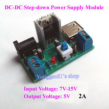 L7805 DC-DC Buck Converter 7-15V 9V 12V to 5V 2A Step-down Power Supply Module