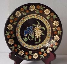 THOUNE SWITZERLAND SMALL 6.25 INCH POTTERY PLATE DECORATED WITH FLOWERS