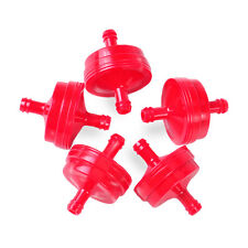 "5x 1/4"" Red Plastic Inline Fuel Filter Replacement fit Briggs & Stratton 298090"