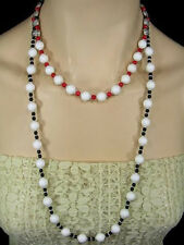 Artist-Made Black Onyx & White Tridacna Necklace & Earring Set