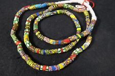 Vieja Millefiori abalorios 85cm old Venetian vintage African Trade beads afrozip