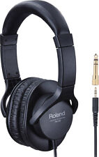 Roland RH-5 Monitor Headphones Closed Back Adjustable Headband 3.5mm/6.3mm RH5