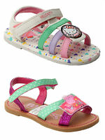 GIRLS OFFICIAL HELLO KITTY PEPPA PIG FLAT BEACH HOLIDAY SUMMER SANDALS UK 4-10