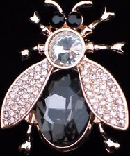 """NIB CAROLEE RHINESTONES INSECT BEE WASP MISQUOTE FLY BUG PIN BROOCH JEWELRY 1.5"""""""