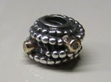 Pandora Silver & Gold Entangle Beauty Charm  # 790277D Retired w Diamonds