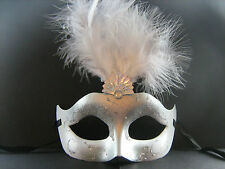 Silver Feather Masquerade Mask  Fancy Dress / Party / Ball / Mardi Gras