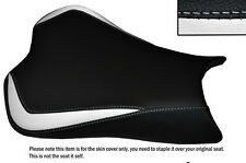 DESIGN 3 WHITE & BLACK CUSTOM FITS KAWASAKI ZX10R 1000 08-10 FRONT SEAT COVER