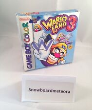Wario Land 3 (Nintendo Game Boy Color, 2000) COMPLETE IN BOX AND WORKING GBC