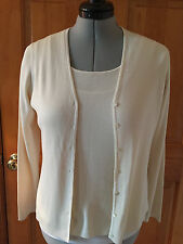 Ann Taylor Fine Ribbed Silk Top and Cardigan, Size M, NWOT