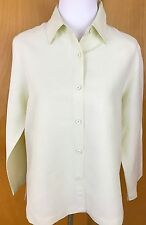 Eileen Fisher Size Medium Button Blouse Tunic Linen Silk Blend Yellow