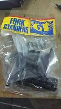 NOS OLD SCHOOL BMX 80s GT BLACK FREESTYLE FORK STANDERS PEGS FREESTYLE  RACING