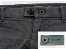 Grey Extension & Button Pants Shorts Jeans Trouser Waist Expander Extend Size B