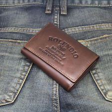 New Mens Wallet KOREA -710 Vintage Genuine Leather Holder Mini Trifold Purse