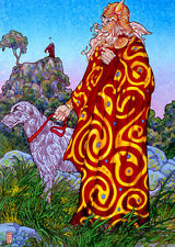 CELTIC IRISH FANTASY ART PRINT BREAS.CÚ BREA 16x11 By Jim FitzPatrick