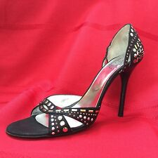 ICONE VERO CUCIO Made In Italy High Heel Studded Shoes SZ 38.5 (8.5) Excellent