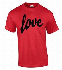 LOVE Men's T-SHIRT Black Logo Cute Funny Special Gift For Him Valentines Day Tee