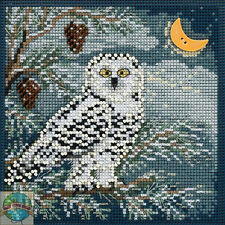 Cross Stitch Kit ~ Mill Hill Buttons & Beads Winter Snowy Owl #MH14-4304