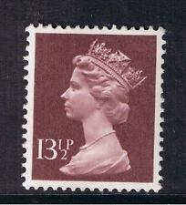 GB QEII Machin Definitive Stamp. SG X945 13 1/2p Purple-Brown. PP. MNH