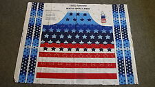 """FABRIC PANEL Just Cut and Sew """"Heart of America Apron"""" Stars & Stripes Patriotic"""