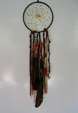 "NEW BEAUTIFUL FIRST NATIONS OJIBWAY DREAM CATCHER AUTUMN EARTH 6"" BROWN"