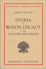 ABATE PRÉVOST STORIA DI MANON LESCAUT E DES CAVALIER DES GRIEUX 1931