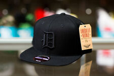 American Needle Detroit Tigers 400 Series Black Snapback Hat
