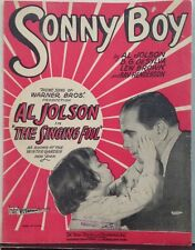 "Sonny Boy (1928) ""The Singing Fool"" Al Jolson, Ray Henderson VG"