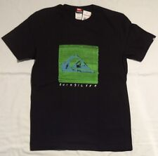 NEW MENS QUIKSILVER liner notes SHORT SLEEVE T-SHIRT BLACK SMALL