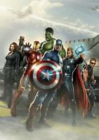 The Avengers Marvel Iron Man Thor Hulk Art Print Photo Picture Poster A3 A4