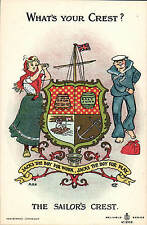 Heraldic Comic. What's Your Crest? in Reliable Series # 9322. Sailor's Crest.