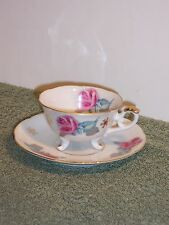 Vintage Yada China Footed Tea Cup and Saucer Rose  Japan