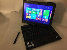Lenovo ThinkPad X201 Laptop Tablet i7 8gb 128gb SSD Windows 10 stylus IPS Screen