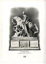 Der heilige Martin Bronzestatue von Wilhelm Seib, Wien Histor. Kunstdruck 1908