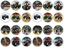 24 cake topper monster truck bun fairy cupcake toppers party edible paper kids