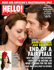Hello Canada Exclusive Magazine Angelina & Brad End Sept.2016 Brand New #522