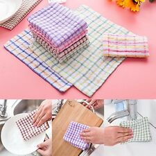 Brand New Kitchen Cleaning Cloth Lattice Towel Cleaning Supplies Dish towel Hot