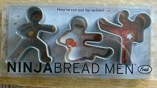 Set Of 3 Ninjabread Men Cookie Cutters, by Fred & Friends