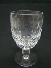 "Waterford Cut Glass ""Colleen"" Short Stem Claret Wine Glasses 4.75"" Clear Crystal"