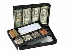 Master Lock 7147D Combination Locking Cash Box With 6 Compartment Tray New