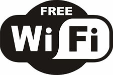 free wifi restaurant coffee chip shop club pub window sign doors vinyl sticker