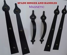 Magnetic Carriage House Garage Door Decorative Hardware Hinges SPADE Kit Faux