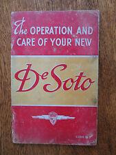 Vintage 1940 De Soto Model S7 automobile owner's manual