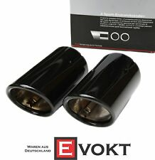 Audi A5 Exhaust Tailpipes Black Set 8T Sportback Coupe Exhaust Pipe Kit Genuine