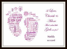 PERSONALISED BABY CHILDS BEDROOM NURSERY NAME PRINT BOY GIRL Christening Gift